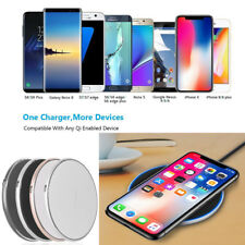 Slim Qi Wireless Fast Charger Charging Pad for Galaxy S9/S8Plus/iPhone X XS Max