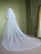 2 T Bridal Veil White/Ivory Cathedral 3M Pearl Voile Wedding Veils With Comb