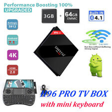 H96 PRO 3+64GB Android 7.1 TV Box Amlogic S912 Dual Wifi H.265 4K Media Player