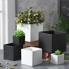 Plant Pot Simple Classic European Style Flower Exquisite Ceramic Black White Off