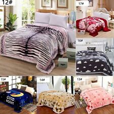 Luxury 2 Lay Warm Soft Large Flannel Throw Blanket Sofa Bed Travel Throwover Hot