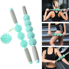 Yoga Spiky Ball Trigger Point Muscle Therapy Stick Roller Spikey Massage TY