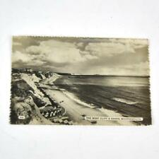 Vintage Postcard The West Cliff and Sands Bournemouth Real Photo Posted