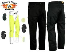 Australian BG Mens Cargo Motorcycle Trousers Jeans lined with DuPont™ KEVLAR®