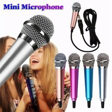 Condenser Karaoke Mini Microphone 3.5mm Wired For Computer Android Smartphones