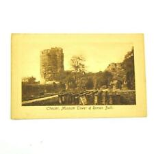 Vintage Postcard Chester Museum Tower and Roman Bath Unposted