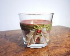 Christmas Scented Candle | Christmas Home Decor, Holly Leaf & Red Bell Berries