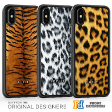 PERSONALISED ANIMAL PRINT FUR NAME WILDLIFE Phone Case Cover For iPhone Samsung