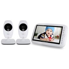 7.0 inch Wireless 2 Camera LCD Night Vision Video Baby Monitor