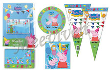PEPPA PIG PARTY PACK- 1 TABLE COVER/ 4 PARTY BAGS/ 4 PAPER PLATES & SINGLE ITEMS