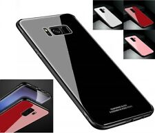 Samsung Galaxy S8 S9+ Note 9 Shockproof Slim Case Tempered Glass Hard Back Cover