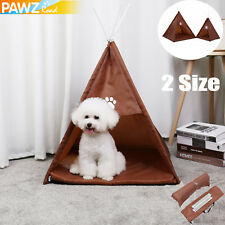 Pet Dog Cat Tent Portable Foldable Indoor Outdoor Pup Playpen House Kennel Cage