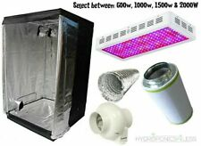Complete Hydroponic Grow Room Tent Fan Filter Light Kit LED 120x120x200
