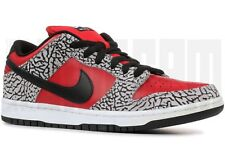 2012 Nike DUNK LOW PREMIUM SB SUPREME 9 10 11 FIRE RED BLACK CEMENT cdg