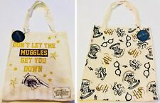 PRIMARK HARRY POTTER THEME CANVAS TOTE SHOPPING BAG - Brand New With Tags