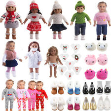 Doll Clothes Pajames Shoes for 18inch American Girl Our Generation My Life Xmas
