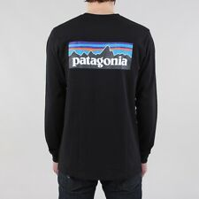 Patagonia Men's New P-6 Logo Long Sleeve Responsibili-Tee T-shirt Black