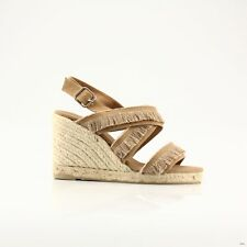 CASTANER WITH WEDGES FOOTWEAR  WOMAN SANDAL CLOTH  LIGHT BROWN  - 3951
