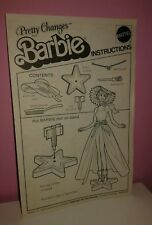 ISTRUZIONI BARBIE PRETTY CHANGES 1978 SUPERSTAR INSTRUCTIONS RARE
