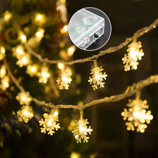 3M 20LED Battery Operated Snowflake Fairy String Light Christmas Wedding