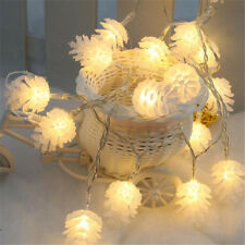KCASA 2M 20 LED Pine Cone String Lights LED Fairy Lights for Festival Christmas
