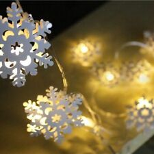 KCASA 2M 20 LED Metal Snowflake String Lights LED Fairy Lights for Festival