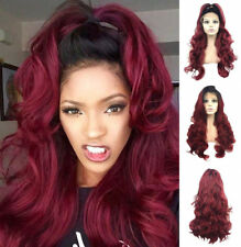 """24"""" Heat Resistant Hair Long Wavy Lace Front Wig Fashion Ombre Women Cosplay"""
