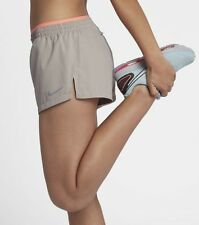 """NIKE ELEVATE 2IN1 WOMEN RUNNING 3"""" DRI FIT SHORTS - MOON PARTICLE 895823-215 - M"""