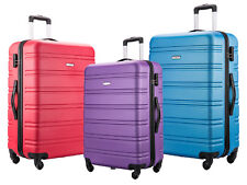 4 Wheel Suitcase Lightweight Hard Shell Luggage Large Medium Cabin Cases ABS