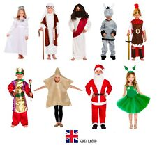 Kids Star Costume Nativity Christmas Play Dressing Up Child Fancy Dress 4-9 Yrs
