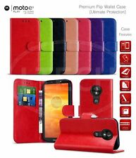 """Magnetic Leather Wallet Case for Motorola Moto E5 Play / XT1920 (5.3"""")"""