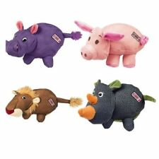 KONG Phatz Dog Puppy Hippo Lion Pig Rhino Chew Fetch Toy with Squeaker or Treats
