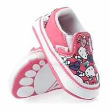 Vans Baby Classic slip-on Hello kitty Pink/True White soft canvas shoes