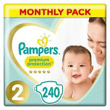 Pampers Premium Protection New Baby Size 4, 240 Nappies, (4-8 kg), Monthly Pack