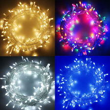LED String Fairy Lights on Clear Cable for Christmas Tree Party Wedding 100-500