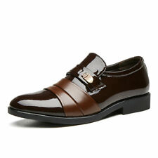 Men Leather Business Formal Oxford Shoes Casual Slip on Loafers Dress Wedding