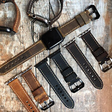 BULL Leather Replacement Strap Band For Apple Watch Series 4 3 2 1 38/40/42/44mm