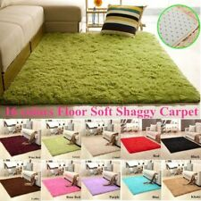 Soft Shaggy Carpet Anti-Skid Floor Mat Area Rug Door Mat Living Room Bedroom New