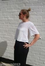 ZARA EMBROIDERED CAPE SLEEVE TOP OFF WHITE Ref.1381/045 SIZE M BLOGGERS FAVORITE
