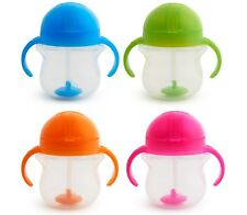 Munchkin Click Lock Tip and Sip Weighted Flexi Straw Trainer Cup (7 oz/207 ...