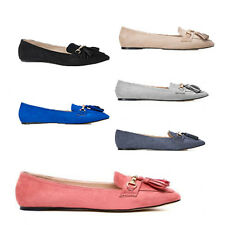 WOMENS WORK SCHOOL SLIP ON TASSEL LOAFERS PUMPS MOCCASINS LADIES SHOES SIZE 3-8