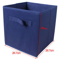 Fodable Storage Box Organizer Fabric Cube Bin Basket Container 10 Colors