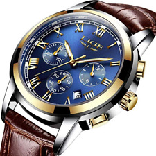 Watches Full Stainless Steel Waterproof Analog Quartz Military Watch for Men Fas