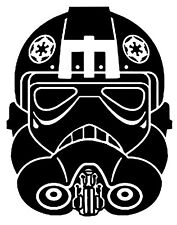 Star Wars Vinyl Decal Sticker Car Laptop - Imperial Pilot AT-AT AT-ST