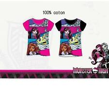 tee shirt MONSTER HIGH rose manche courte