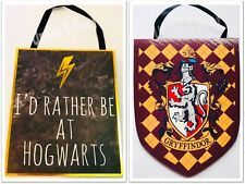 PRIMARK HARRY POTTER HANGING WALL DECORATIVE SIGN - Brand New