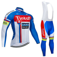 Completo Ciclismo invernale TEAM TINKOFF SAXOBANK 2018 set divisa bici lunga