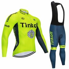 Completo Ciclismo invernale TEAM TINKOFF saxobank giallo fluo set divisa bici 9d