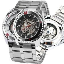Watch Men's Automatic Skeleton Mechanical Mens Wrist Watches Stainless Steel New