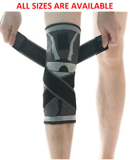 U-pick Knee Support Brace,Compression Sleeve with Non-slip Adjustable ALL SIZES